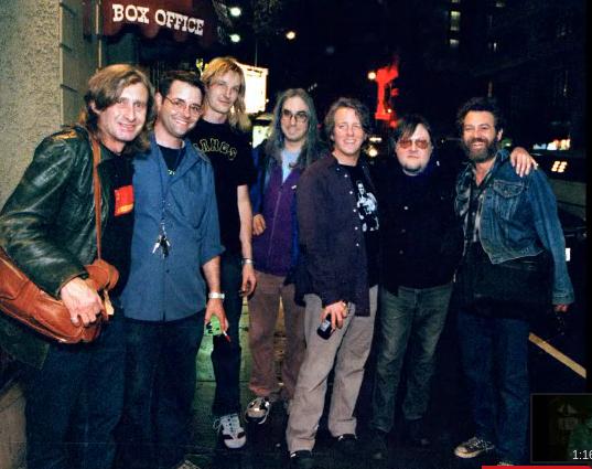 Picture of Steve Mackay, Eric Fischer, David Shied, J Mascis, George Berz, Ron Asheton, Mike Watt by Peter Whitfield http://pgwhitfield.com