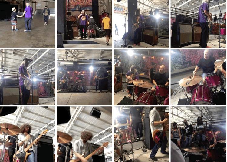 Dinosaur Jr video shoot at House of Vans